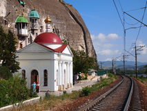 正统修道院在塞瓦斯托波尔 免版税库存照片