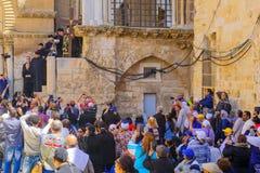 正统基督受难日2016年在耶路撒冷 库存照片