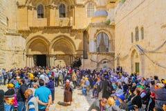 正统基督受难日2016年在耶路撒冷 免版税图库摄影