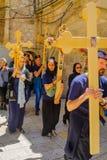 正统基督受难日2016年在耶路撒冷 免版税库存图片