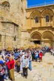 正统基督受难日2016年在耶路撒冷 库存图片