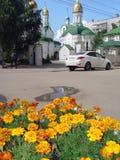 正统基督教会在梁赞,俄罗斯 库存照片