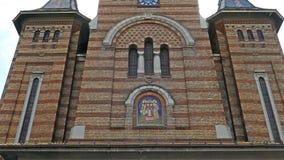 正统大城市大教堂在蒂米什瓦拉,罗马尼亚 影视素材