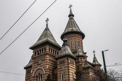 正统大教堂在蒂米什瓦拉,罗马尼亚 库存照片
