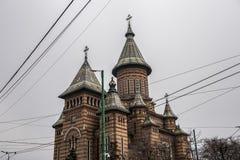 正统大教堂在蒂米什瓦拉,罗马尼亚 图库摄影