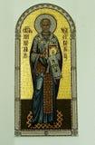正统象是在俄罗斯正教会的墙壁上的一幅壁画 免版税库存图片