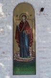 正统象是在俄罗斯正教会的墙壁上的一幅壁画 库存照片