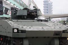 步兵与机枪的作战车辆塔楼 库存图片