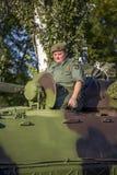 步兵塞尔维亚武力的作战车辆 免版税库存照片