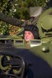 步兵塞尔维亚武力的作战车辆 库存照片