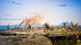 步兵打仗 免版税库存图片