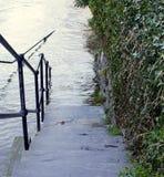 步到洪水里 库存照片