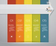 5步处理介绍的infographics元素 向量例证