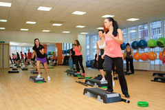 步委员会的女性在锻炼期间 库存图片