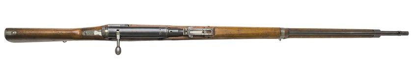 步枪在白色背景俄国人武器开枪 免版税库存图片