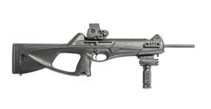步枪马枪在白色背景右边隔绝的9mm 免版税库存照片