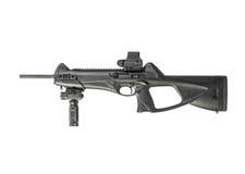 步枪马枪在白色背景隔绝的9mm 免版税库存照片