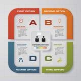 4步样品text&data的图布局 设计干净的模板 免版税库存图片