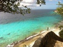 1000步海滩博内尔岛 免版税库存照片