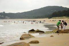 1000步海滩Putuoshan中国 库存照片