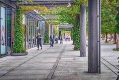 步行区域在东京,日本现代区  免版税库存图片