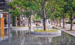 步行区域在东京,日本现代区  图库摄影