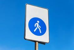 步行区域 走道路标 库存图片