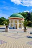 步行区-小西部漂泊温泉镇Frantiskovy Lazne Franzensbad -捷克温泉中心  库存照片