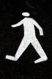 步行标志 图库摄影