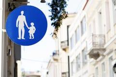 步行标志 免版税图库摄影