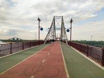 步行桥|基辅,乌克兰 免版税库存图片