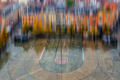 步行正方形鸟瞰图在鲁汶Universi前面的 免版税图库摄影