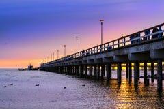 步行海边码头 帕兰加,立陶宛 图库摄影