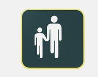 步行符号线索 免版税图库摄影