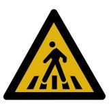 步行符号警告 库存图片