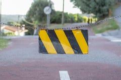 步行者和周期eco道路,在Viseu,葡萄牙 免版税图库摄影