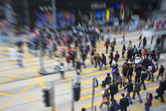 步行者在香港 免版税库存照片