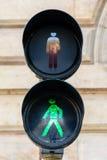 步行者的红绿灯 库存照片