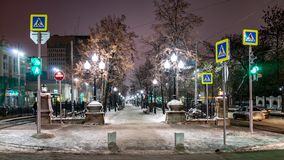 步行者的许多路标 库存图片
