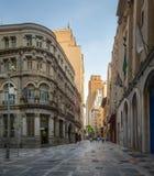 步行街道在街市圣保罗-圣保罗,巴西 库存图片