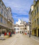 步行街道, Alesund挪威 库存图片