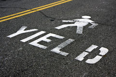 步行路标产量 免版税图库摄影