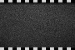 步行边界-白色和黑色 库存照片
