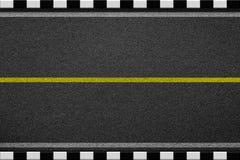 步行边界-白色和黑色 库存图片