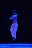 步跃迁啼声现代舞蹈 库存照片