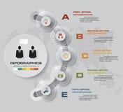 5步过程 Simple&Editable摘要设计元素 向量 库存例证