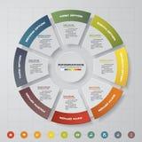 8步过程 Simple&Editable摘要设计元素 向量 向量例证
