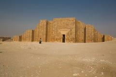 步金字塔的围墙 库存图片