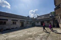 步 taman的莎丽服 日惹 印度尼西亚 免版税库存照片