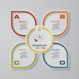 4步infographics介绍模板 与空间的4步您的样品text&data的 免版税图库摄影